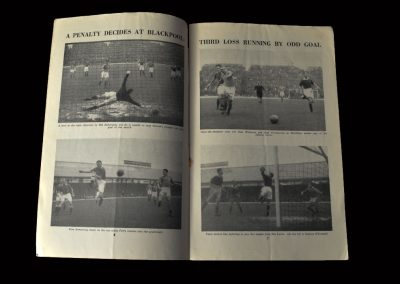 Chelsea v Charlton 30.10.1954 (pictures and report from black pool game)