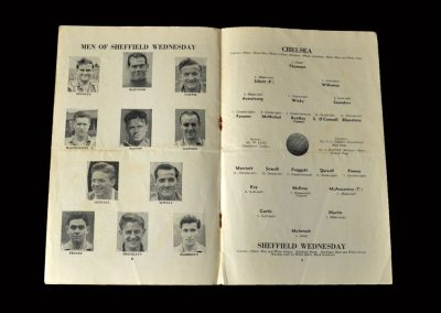 Chelsea v Sheff Wed 23.04.1955 (Back with Chelsea to win the title)