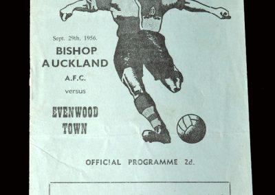 Bishop Auckland v Evenwood Town 29.09.1956