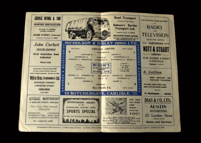 Carlisle v All Stars FC 24.02.1958 (FA Amateur Cup 2nd Round)