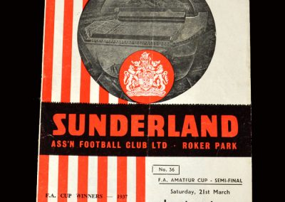 Crook v Leytonstone 21.03.1959 (FA Amateur Cup Semi Final)