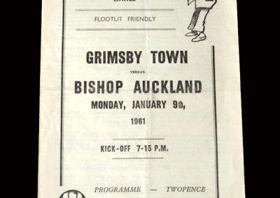Grimsby v Bishop Auckland 09.01.1961 (Friendly)