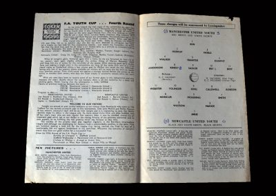 Man Utd Youth v Newcastle Youth 24.04.1963 (FA Youth Cup 4th Round)