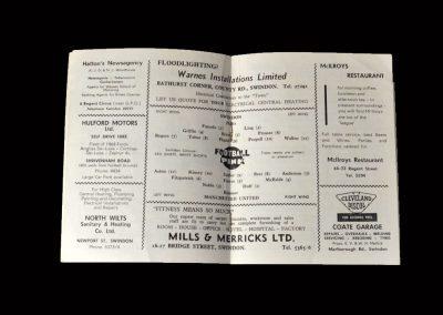 Swindon v Man Utd 27.04.1964 (FA Youth Cup 1st Round)