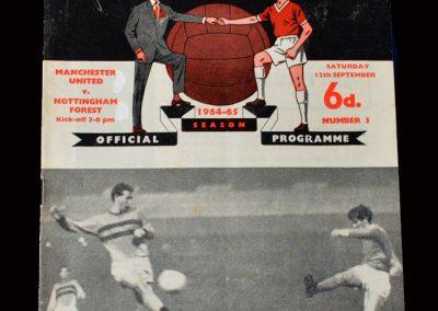 Man Utd v Notts Forest 12.09.1964