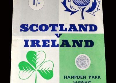 Scotland v Northern Ireland 25.11.1964