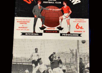 Man Utd v Burnley 20.02.1965 (FA Cup 5th Round)