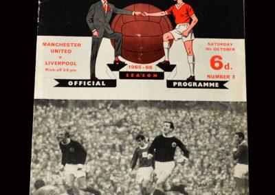 Man Utd v Liverpool 09.10.1965