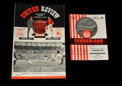 Man Utd v Spurs 18.12.1965   Man Utd v Sunderland 11.12.1965 (2 in a 3-2 win)