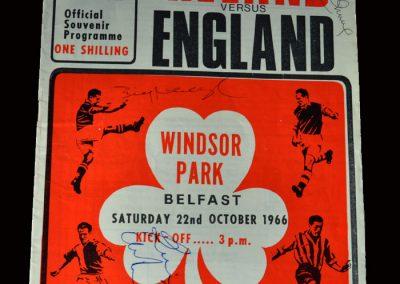 Northern Ireland v England 22.10.1966