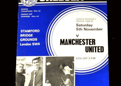 Chelsea v Man Utd 05.11.1966