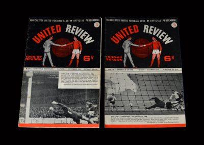 Man Utd v Sheff Wed 12.11.1966   Man Utd v Sheff Utd 27.12.1966