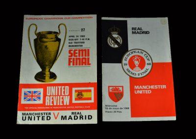 Man Utd v Real Madrid 24.04.1968 / 15.05.1968 (European Cup Semi Final)