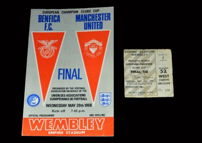 Man Utd v Benfica 29.05.1968 (European Cup Final inc Ticket)