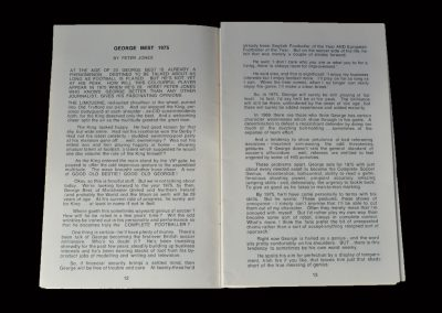 Supporters Club Handbook 1969/70 (Review of George in 1975!)