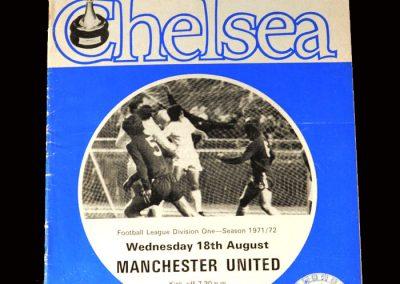 Chelsea v Man Utd 18.08.1971 (Sent off)