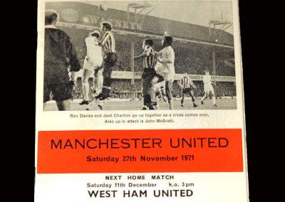 Southampton v Man Utd 27.11.1971 (hat-trick)