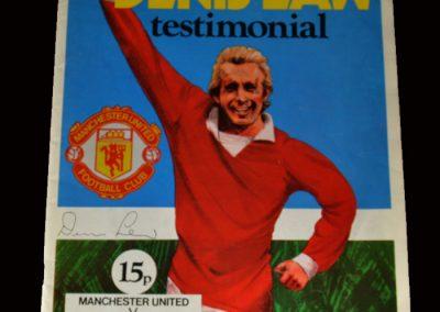 Man Utd v Ajax 03.10.1973 (Law Testimonial - he returns to Old Trafford)