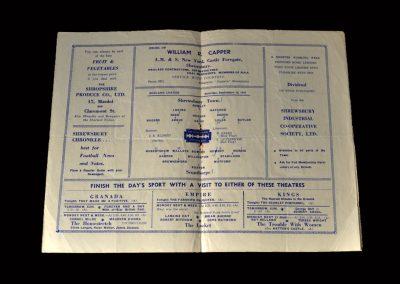 Shrewsbury v Scunthorpe 13.09.1947 (Hapgood for Shrewsbury)