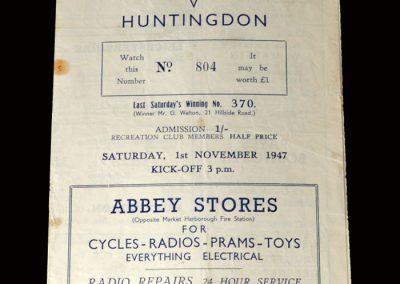 Leicestershire v Huntingdon 01.11.1947