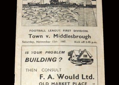 Grimsby v Middlesbrough 15.11.1947