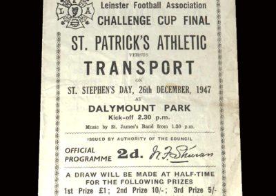 St Patricks v Transport 26.12.1947 (Leinster Cup)