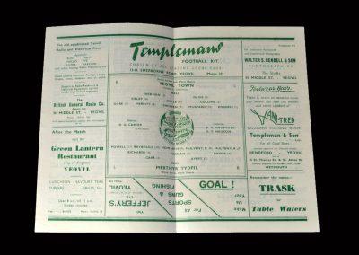 Yeovil v Merthyr 14.02.1948