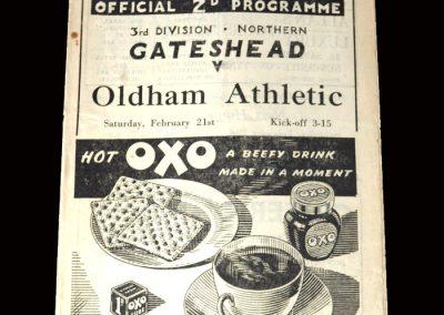 Gateshead v Oldham 21.02.1948