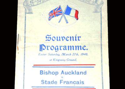 Bishop Auckland v Stade Francais 27.03.1948