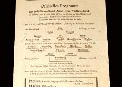 West Germany v North Germany 04.04.1948