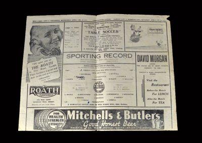 Cardiff v Newcastle 10.04.1948