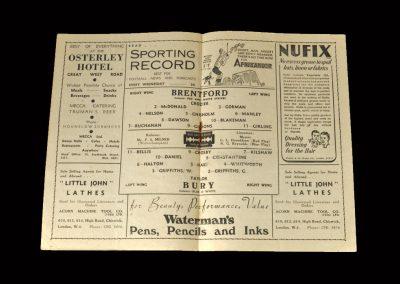 Brentford v Bury 17.04.1948