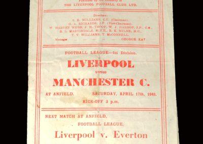 Liverpool v Man City 17.04.1948