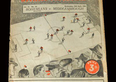 Bohemians v Middlesbrough 28.04.1948