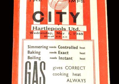 Lincoln v Hartlepools 01.05.1948 (Promotion clincher)