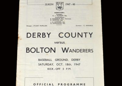 Derby v Bolton 18.10.1947