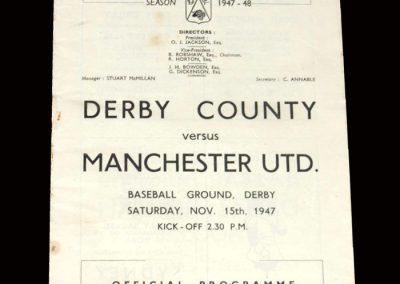Derby v Man Utd 15.11.1947