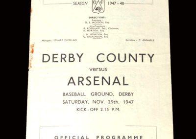Derby v Arsenal 29.11.1947
