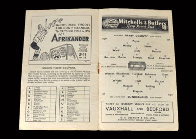 Derby v Sunderland 14.02.1948