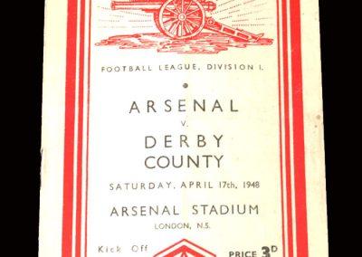 Derby v Arsenal 17.04.1948