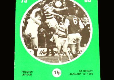 Hibs v St Mirren 19.01.1980 (postponed?)