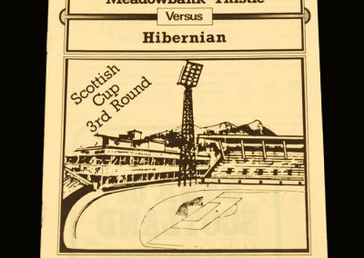 Hibs v Meadowbank Thistle (Livingstone) 26.01.1980 - Scottish Cup 3rd Round