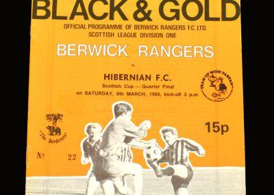 Hibs v Berwick 08.03.1980 - Scottish Cup 5th Round