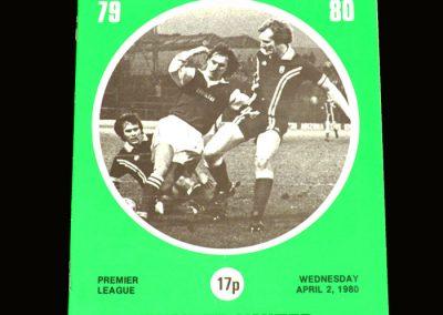 Hibs v Dundee United 02.04.1980