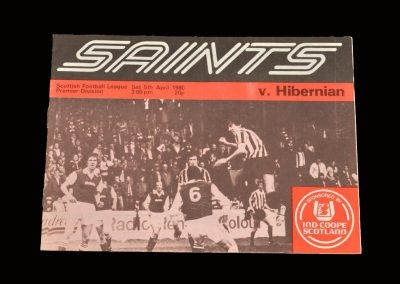 Hibs v St Mirren 05.04.1980