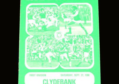 Hibs v Clydebank 27.09.1980