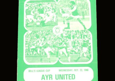 Hibs v Ayr United 22.10.1980 -Scottish League Cup Quarter Final 2nd Leg - Describes Best's last game