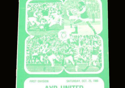Hibs v Ayr United 25.10.1980 - Best had now left the club