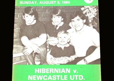 Hibs v Newcastle 05.08.1984 - McNamara Testimonial