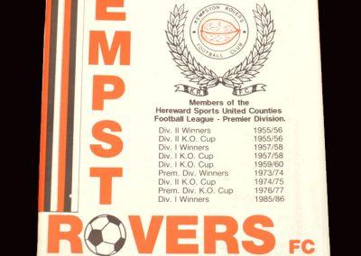 Barnet v Kempston 28.09.1991 (Friendly)